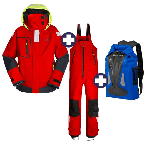 Ensemble Compass Professional Offshore Veste + Pantalon + Sac à dos WP