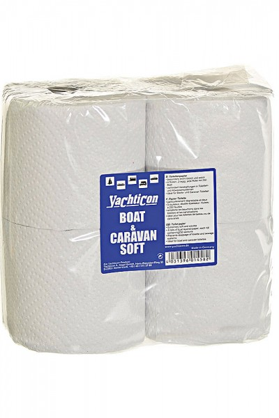 Yachticon Toilettenpapier, 4 Rollen
