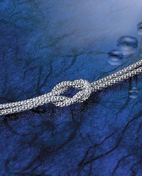 Collier Kreuzknoten 925/Silber
