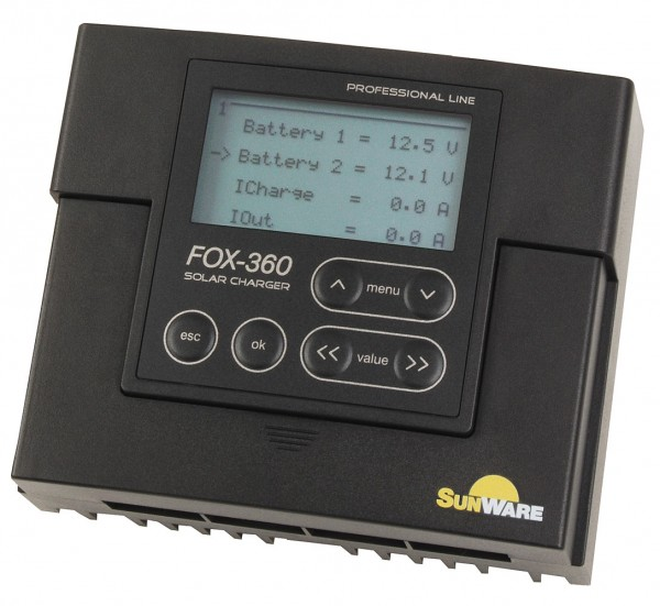 SunWare FOX-360 solar charge controller