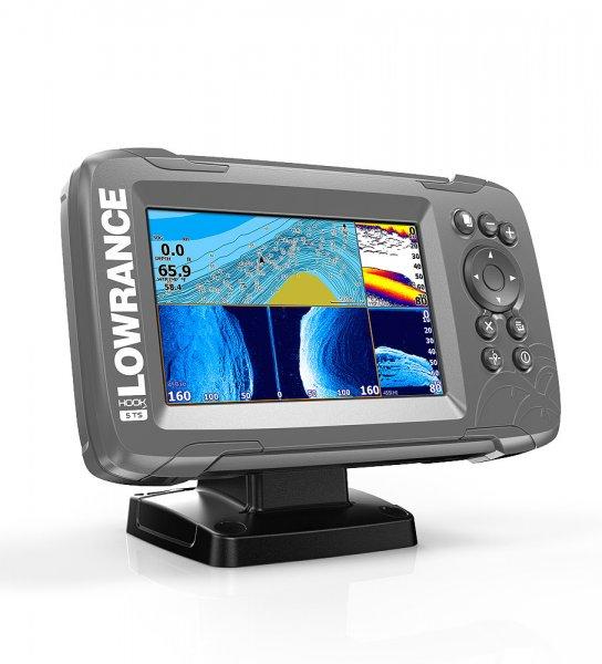 Lowrance Hook2-5 inkl. Heckgeber GPS Kartenplotter