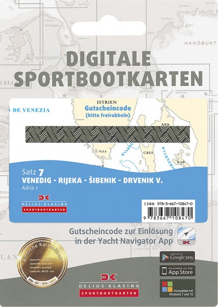 Digitale Sportbootkarte Satz 7
