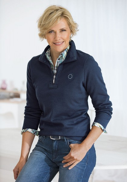 Sweatshirt mit Zippkragen