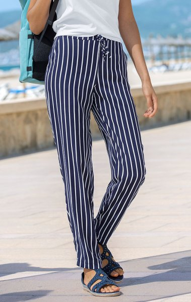 Anna Larssen striped pants