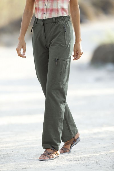Stretch travel pants with function