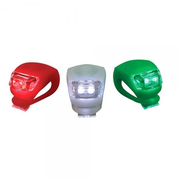 Fahrradlicht rot/grün/weiß
