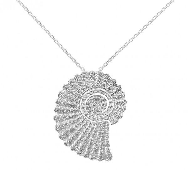 Ammonitanhänger mit Kette in 925er Silber