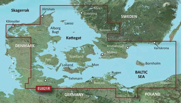 BlueChart® g3 HXEU021R - Denmark East-Sweden Southeast g2 mSD