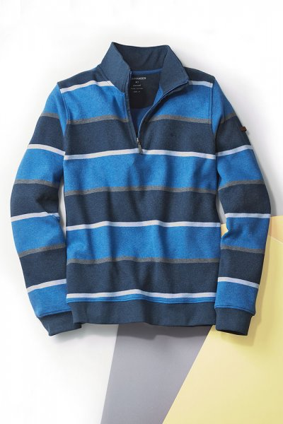 Zipp-Streifensweater