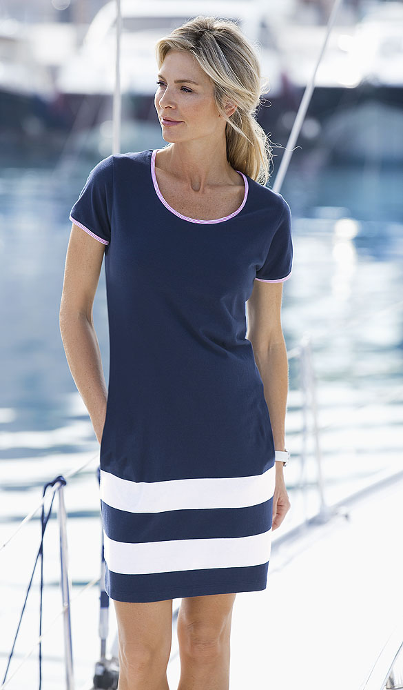 Linea il mare Jerseykleid maritim | Kleider | Damenmode ...