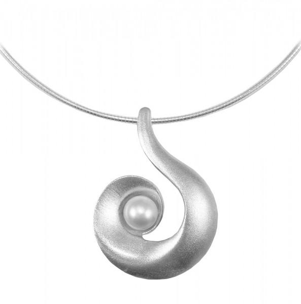 Anhänger mit Perle und Reif 925er Silber