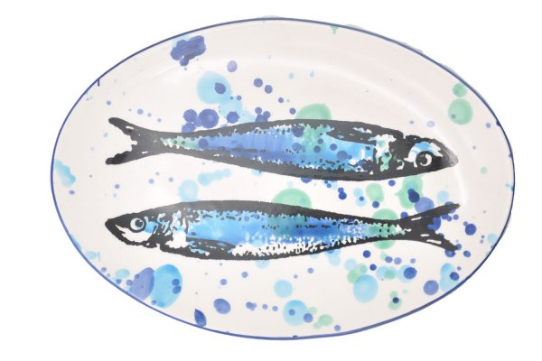 Ceramic dinner plate oval 21x30 cm