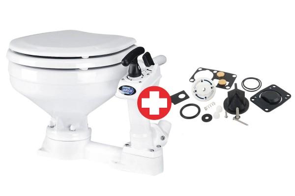 Toaleta ręczna + zestaw części zamiennych – Jabsco