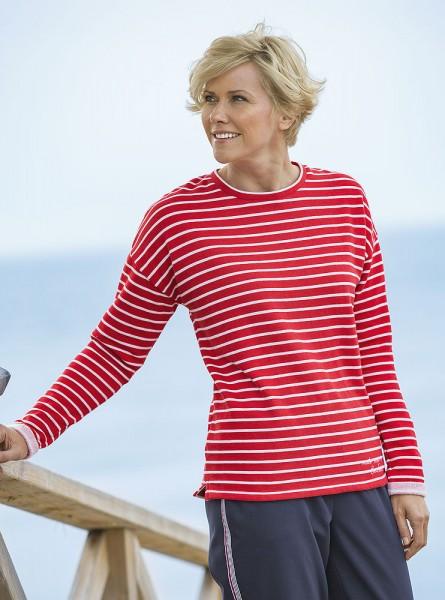 Streifen-Sweatshirt