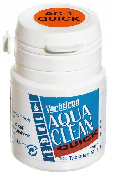 Tabletki do uzdatniania wody z chlorem – Yachticon Aqua Clean Quick