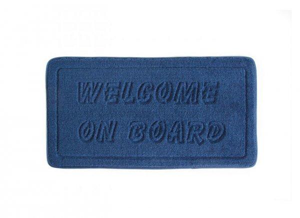 Doormat Welcome on Board Navy
