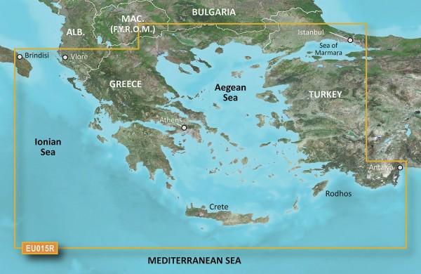 Garmin BlueChart g2 HXEU015R - Ägäisches Meer & Marmarameer HEU015R - Aegean Sea & Sea of Marmara
