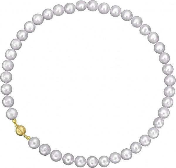 Perlenkette grau mit Magnetverschluss