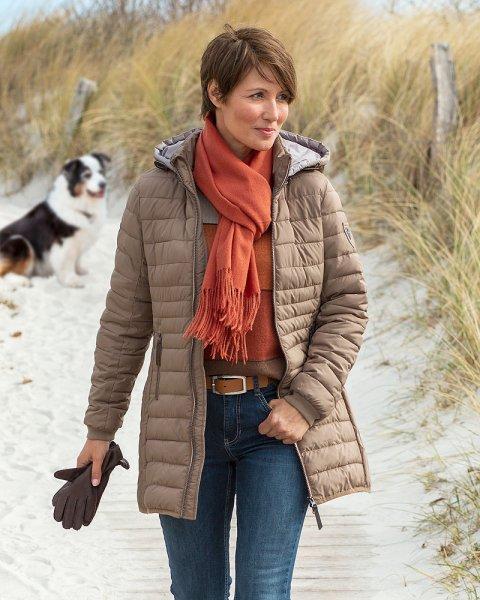 Damen Leichtstepp-Mantel
