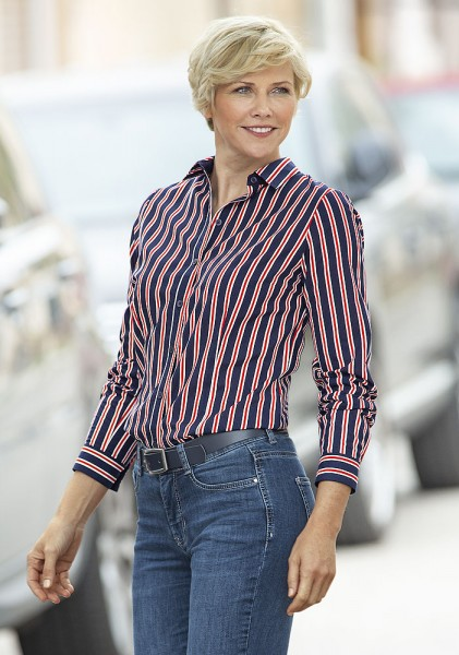 Anna Larssen Streifen-Hemdbluse