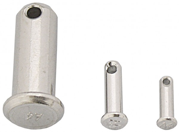 Stainless-steel locking pins.