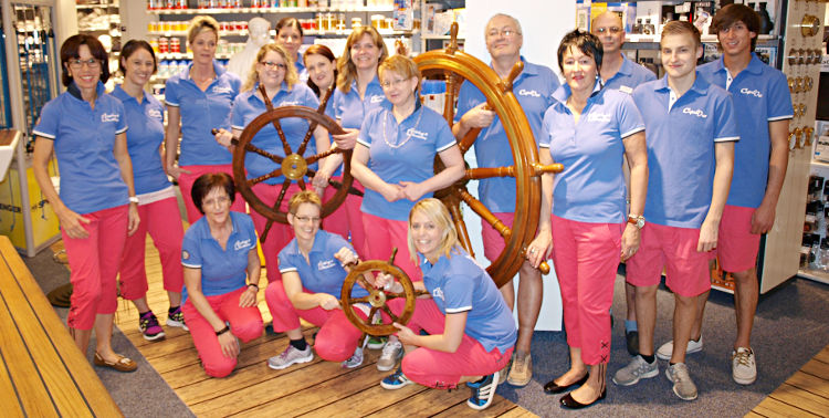 Die Compass-Shop-Crew in Altendorf