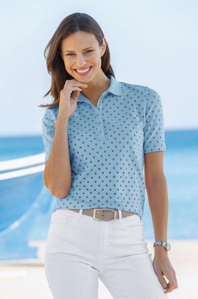 Tupfen-Poloshirt