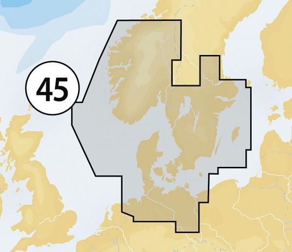 Navionics Gold XL9: 45XG Skagerrak & Kattegat