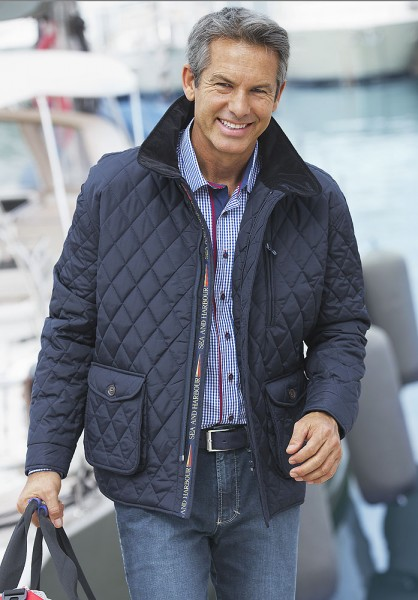 Sea & Harbour Steppjacke Rauten-Dessin