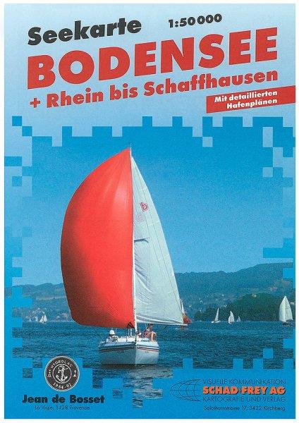 Bodensee - Rhein bis Schaffhausen See-Karte