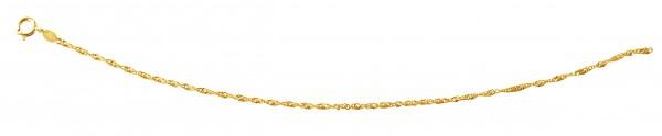 Gedrehte Kette 50 cm Gelbgold