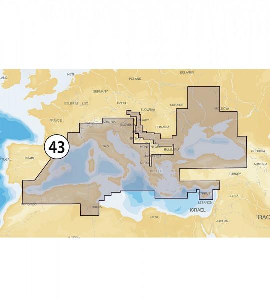 Navionics Gold XL9: 43XG Mittelmeer & Schwarzes Meer