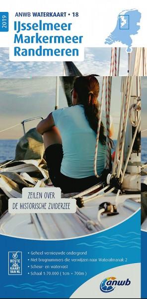 ANWB Waterkaart #18 Ijsselmeer-Markermeer / Randmeren