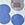 bleu/silber